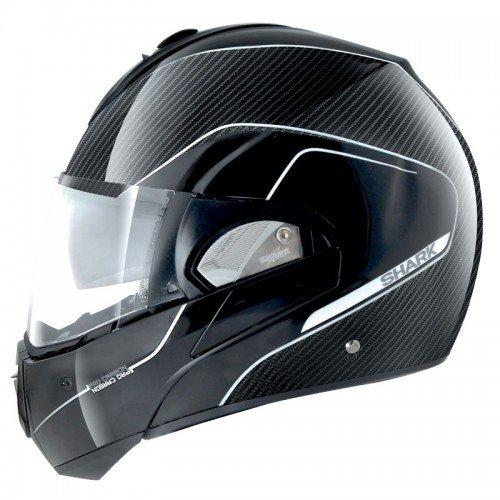 SHARK Casque Moto Evoline PRO Carbon DKS, Noir, Taille S