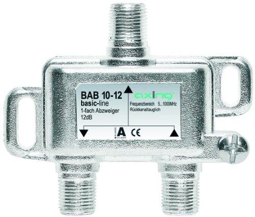 Axing BAB 10-12 BK-1-Fach Abzweiger mit 12 dB Abzweigdämpfung (5-1000 MHz)
