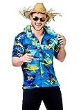 Costume déguisement Homme - Tshirt Hawaien - Palmiers bleus - Taille L