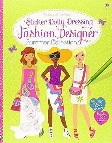 Sticker Dolly Dressing Fashion Designer Summer Collection (Usborne Sticker Dolly Dressing)