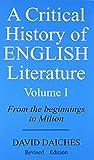 A critical History of English Literature vol-1