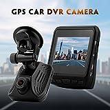 FORNORM DVR Auto Kamera USB, Auto Dashcam Recorder GPS Full HD 1080P mit 150°Weitwinkelobjektiv, G Sensor, Parküberwachung, Bewegungserkennung, Loop Aufnahme, Nachtsicht, Record Audio