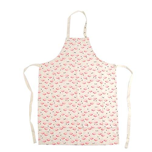Pink Papaya Schürze, Kochschürze für Frauen und Männer aus 100{6bb5951726b9b4f19ef88ccc6f2385e61c929fded62bcfff3d40d3d8b9b67eb1} Baumwollleinen, Küchenschürze Pia, Farbe: beige mit Flamingos