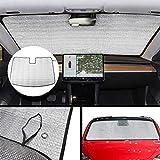 lesgos Tesla modèle 3 Parasol Pare-Brise, Pliable UV Rayon réflecteur Auto fenêtre Avant Pare-Soleil visière Bouclier Couverture, maintient Le véhicule Cool