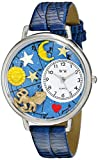Whimsical Watches Unisex U1810007 Leo Royal Blue Leather Watch best price on Amazon @ Rs. 996