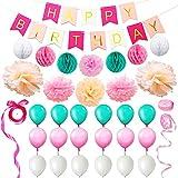 Eightnight Juegos de papel para DIY Feliz cumpleaños decoraciones...