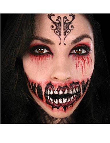 Tatuaje demonio maquillaje boca grande FX