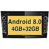 Pumpkin Android 8.0 Autoradio Moniceiver für Opel mit Navi Unterstützt Bluetooth DAB+ WLAN USB MicroSD Android Auto 2 Din 7 Zoll Bildschirm Schwarz