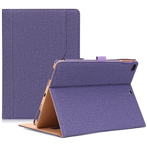 ProCase iPad 9.7 Hülle 2018/2017 iPad Hülle - Weinlese-Folio-Standplatz-Abdeckungs-Fall für Apple iPad 9.7 Zoll, Passt auch iPad Air 2 / iPad Air -Lila (Lila 2 Fall Ipad)