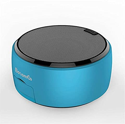 NWYJRF Wireless Bluetooth Speaker Mini Card Portable Card U Disk Subwoofer Creative Mobile Phone Stand , Blue