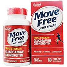 Schiff Move Free Triple Strength Glucosamine Chondroitin Tablets, 80 Each