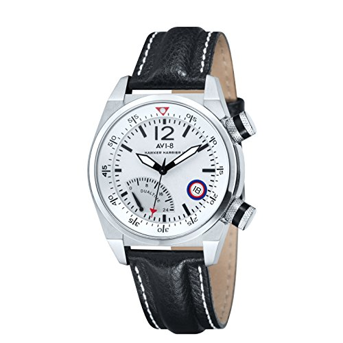 avi-8-hawker-harrier-ii-retrograde-mens-quartz-watch-with-white-dual-time-dial-analogue-display-and-