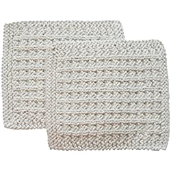 Toockies Hand knit Exfoliating Wash Cloth for 'Him' - 100% Certified Organic Cotton