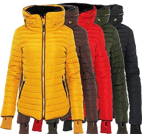 Marikoo Damen Jacke Winter Jacke Designer Steppjacke Parka Trend YSM2A
