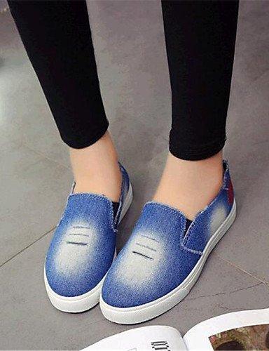 Shangyi Gyht Chaussures Femme-mocassins-loisirs / Sporty-confortable-flat-rope / Denim-bleu Clair Bleu