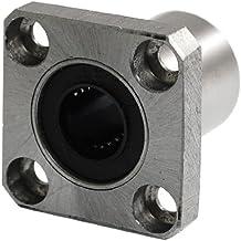sourcingmap® 12mm LMK12UU rodamiento de bolas de movimiento lineal 30 mm de longitud