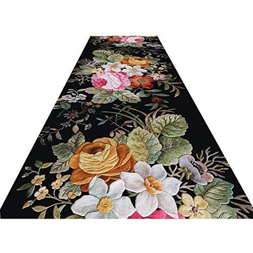 Haipeng-tappeto corridoio passatoia cucina 3d corridore non skid morbido tappeti stretto entrata stuoia per cucina ingresso (colore : a, dimensioni : 0.8x4m)