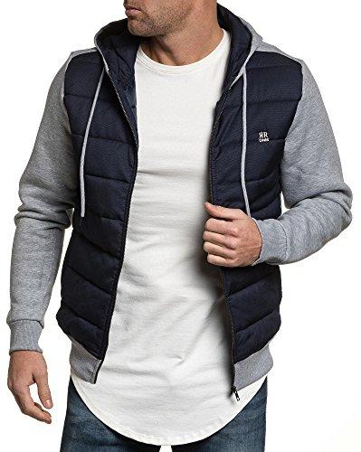 BLZ jeans - Gilet sweat zippé à capuche navy gris pour homme Bleu