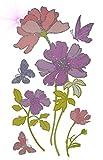 Unbekannt 6 tlg. Set XL Wandtattoo / Fensterbild / Sticker - Blumen Blüte GLITTER Glitzer - Wandsticker Aufkleber