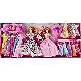 DDS deAO Beautiful Girls Fashion Doll Dress Up Set Includes 3 Dolls & 18 Dresses