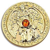 Engeltaler Freude Schutzengel Talisman 24kt vergoldet mit Kristall, Ø 27mm, Glücksbringer Glücksmünze Engel preisvergleich bei billige-tabletten.eu