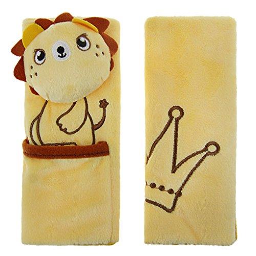 2 x Niedlich Gurtpolster Kinder Gurtschoner aus weichem Plüsch Sicherheitsgurt Gurte Schulterpolster Gurtschutz Polsterung