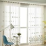 WDXN 2 Stücke Verdunkelungsvorhänge Gardine Vorhang für Schlafzimmer für Gardinenstange Modern Wohnzimmer Stoff Gardinen Schlaufen für Gardinenstange Ösen,200 * 270/2