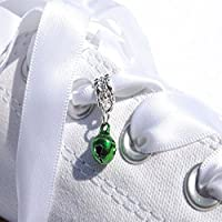 A Cute Little Green Bell Dangle Trainer Charm from Pimp My Shoes for Converse Trainers
