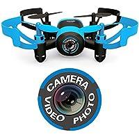 Hasakee Mini RC Drone quadrirotore con telecamera,a