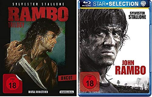 Rambo 1-4 Teil 1+2+3+4 Quadrologie [Blu-ray Set]