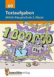 Textaufgaben Mittel-/Hauptschule 5. Klasse, A5- Heft (Mathematik: Textaufgaben/Sachaufgaben, Band 60)