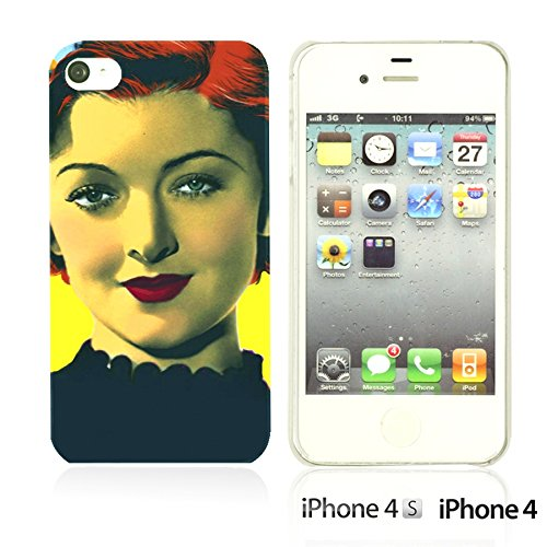 OBiDi - Celebrity Star Hard Back Case / Housse pour Apple iPhone 4S / Apple iPhone 4 - Beautiful Queen Elizabeth II Myrna Loy