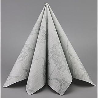 Deko Angels 50 Stück Servietten Noblesse GRAU Stoffähnlich 40 X 40 Cm Zum  Falten Premium Tischdekoration