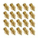JER 20 Stück 3D Düse Drucker MK8 Extruder Messing Druckkopf für Creality Cr10 (0,4 mm)