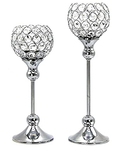 Glass Crystal Votive & Tealight Candle Holders Wedding Centerpieces Best Candle Stand For Anniversary Birthday Gift Item Set of