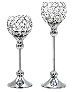 Crystal Tealight Candle Stand Globe Style Box Of 2 Pcs Candle Holders Best Birth Day Anniversary wedding Diwali Gifts