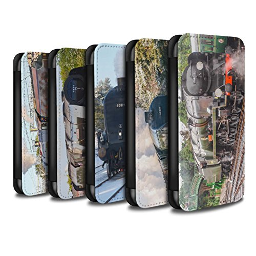 Stuff4 Coque/Etui/Housse Cuir PU Case/Cover pour Apple iPhone SE / Tornado Design / Locomotive Vapeur Collection Pack 20pcs
