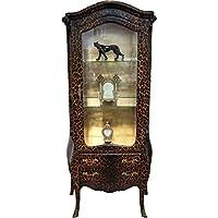 Comparador de precios Casa-Padrino baroque display case in Black/White stripes - display cabinet - cupboard - precios baratos
