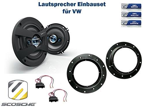 VW T5 Multivan Lautsprecher Einbauset (Türe Front) inkl. Scosche HD6504 165mm 3 Wege Triaxial Lautsprecher 200Watt Scosche Audio
