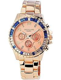 Excellanc 152435500040 - Reloj para mujeres, correa de acero inoxidable color oro rosa