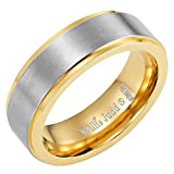 Willis Judd Mens DAD Titanium 7mm Ring Engraved Love You Dad with Gift Pouch