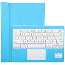 Funda con Teclado Bluetooth CoastaCloud Teclado Bluetooth Inalámbrico 3.0 QWERTY Español con Multi Touchpad - Compatible 9-10.6 Pulgadas Cualquier Windows / Android OS Tablet PC (Tamaño de la tableta adecuada:Min 15x24cm Max 18x26cm)Azul