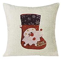 Covermason Lovely Christmas Socks Sofa Bedroom Decoration Throw Pillow Cases Xmas Cushion Cover (O)