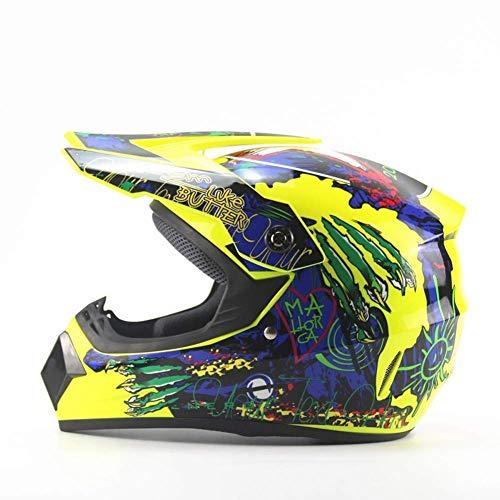 Preisvergleich Produktbild MGF 965 Sport Off Road Motorrad-Helm Dirt Bike D.O.T Zertifiziert, Yellow, M