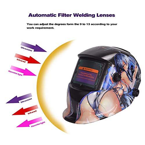 LAIABOR Schweißhelm automatik solar Maske großes sichtfeld für die anwendungen mig/mag/tig/Schleifen/lichtbogenschweißen/Plasma schneiden