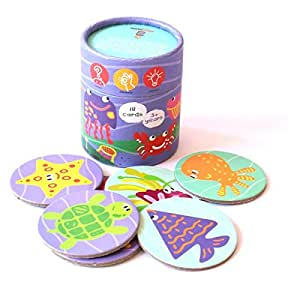 Shumee Sea Creatures Memory Cards Game (Multicolour, 3+ Years)