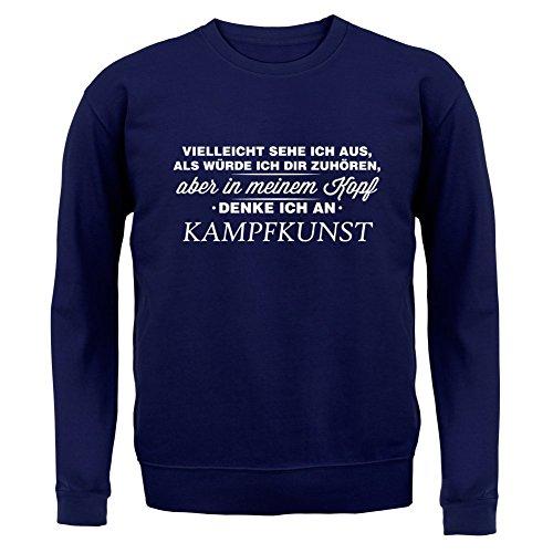 Vielleicht sehe ich aus als würde ich dir zuhören aber in meinem Kopf denke ich an Kampfkunst - Kinder Pullover/Sweatshirt - Navy - M (5-6 Jahre)