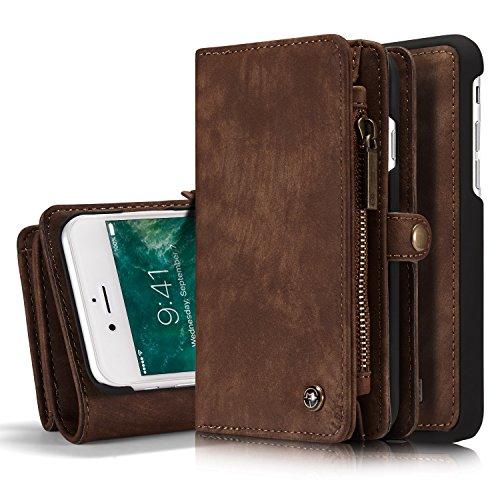 Etui und Geldbörse für Apple iPhone 8 4.7 Zoll - 2in1 Geldbeutel Portmonee Schutzhülle Case Handyhülle Tasche Etui Wallet Hülle (Fold Geldbörse)
