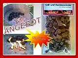 150 Grill Anzünder Holz Kohleanzünder Anzündwürfel aus Naturholz mit Wachs