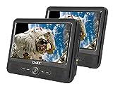 Djix PVS706-50SM Lecteur DVD double écran simple lecteur 7 pouces Noir